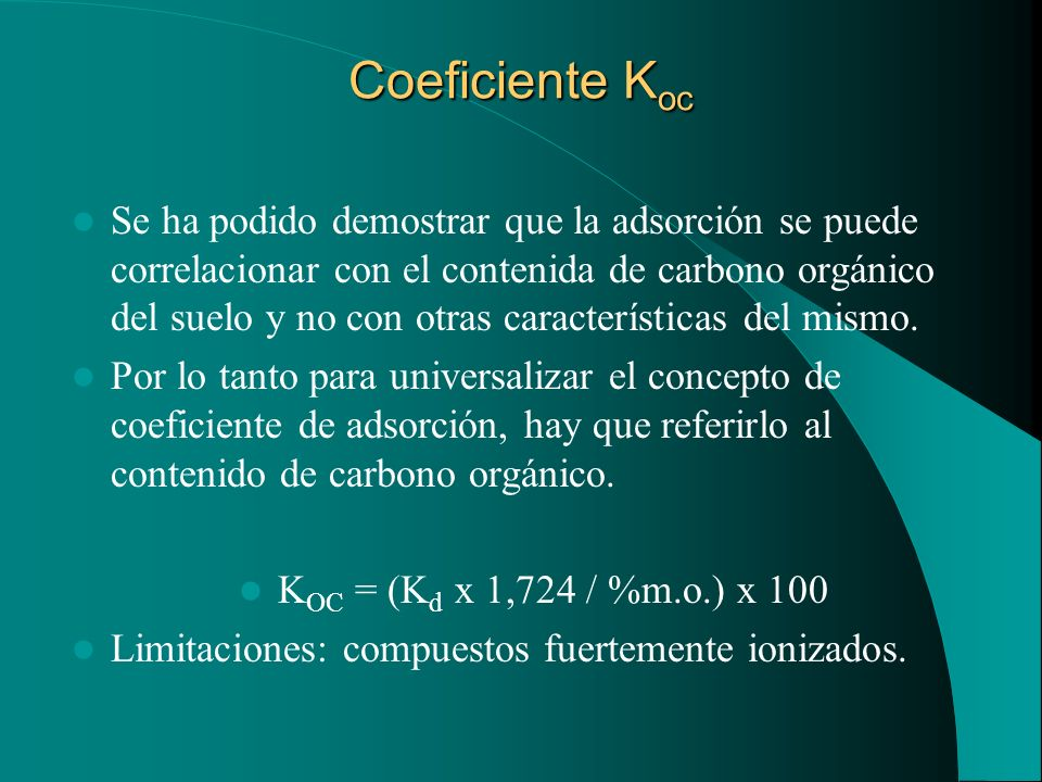 Coeficiente Koc