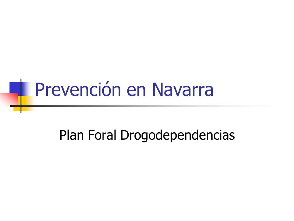 Plan Foral Drogodependencias
