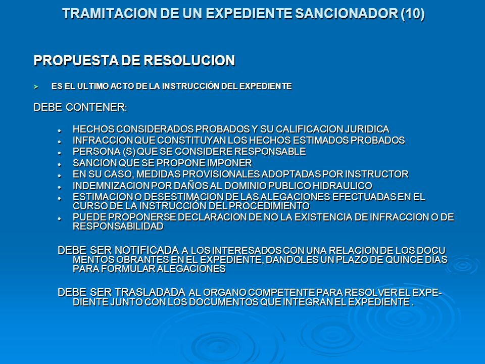 TRAMITACION DE UN EXPEDIENTE SANCIONADOR (10)