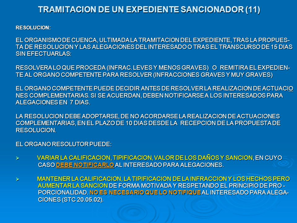TRAMITACION DE UN EXPEDIENTE SANCIONADOR (11)