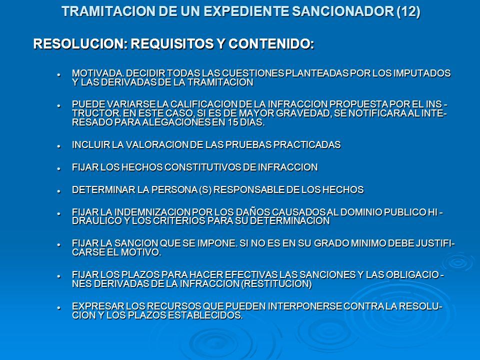 TRAMITACION DE UN EXPEDIENTE SANCIONADOR (12)
