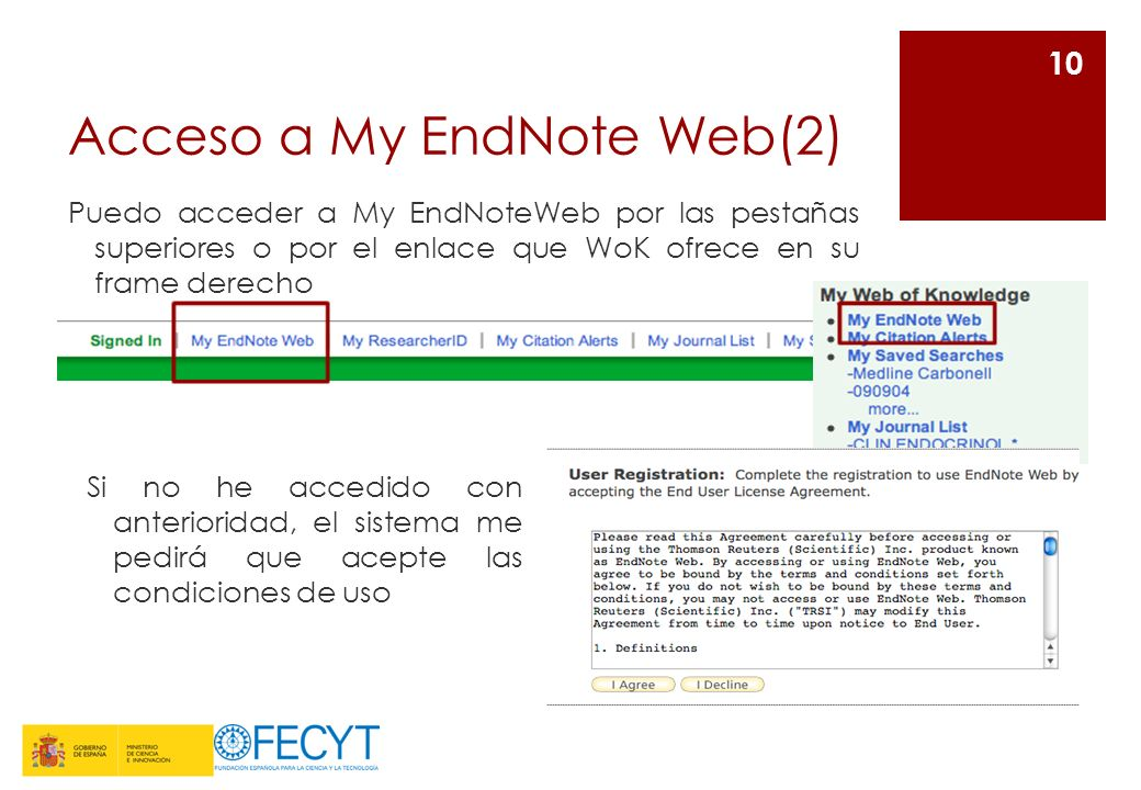 Acceso a My EndNote Web(2)