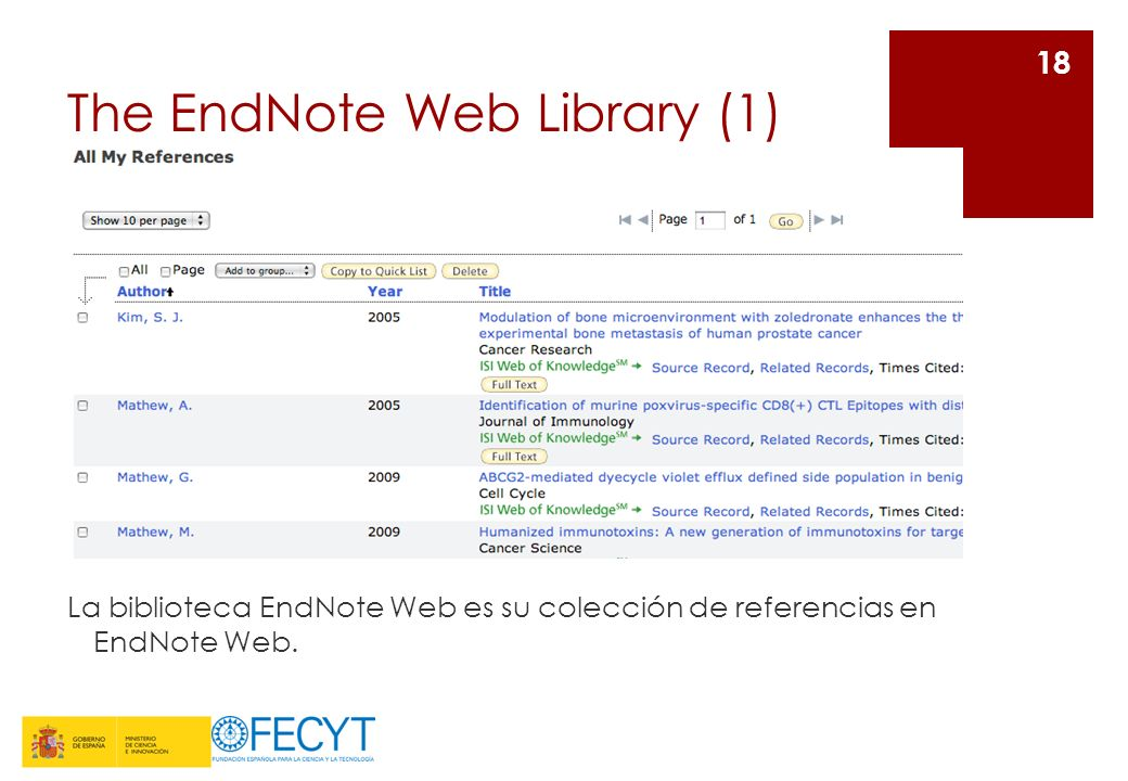 The EndNote Web Library (1)