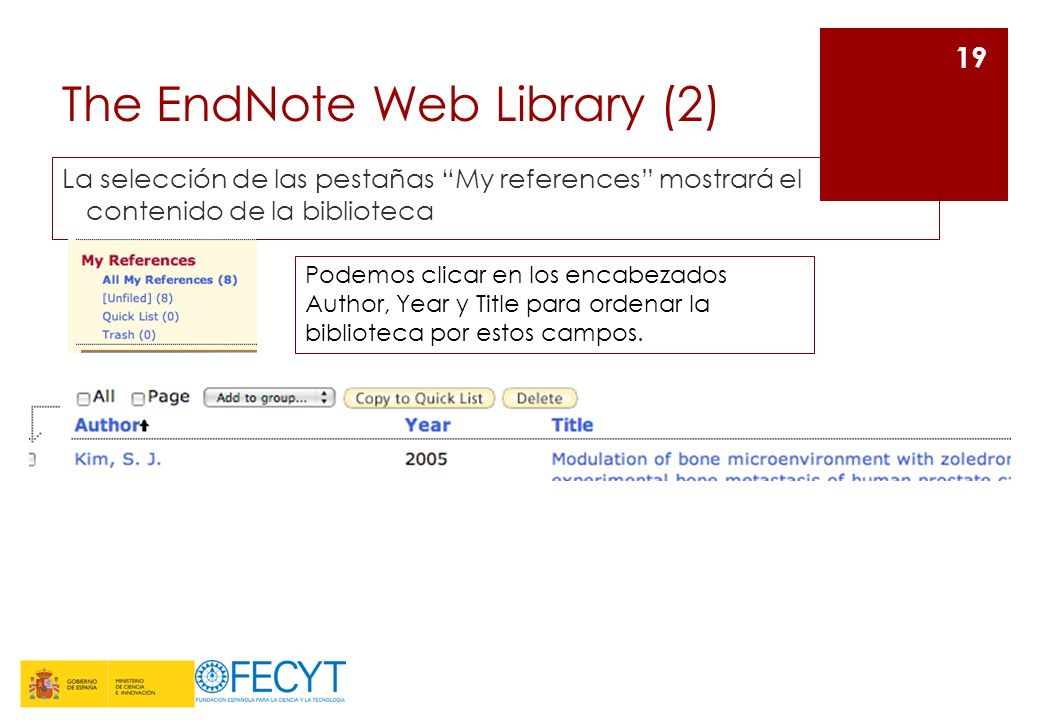 The EndNote Web Library (2)