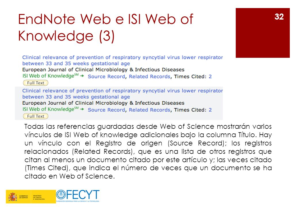 EndNote Web e ISI Web of Knowledge (3)