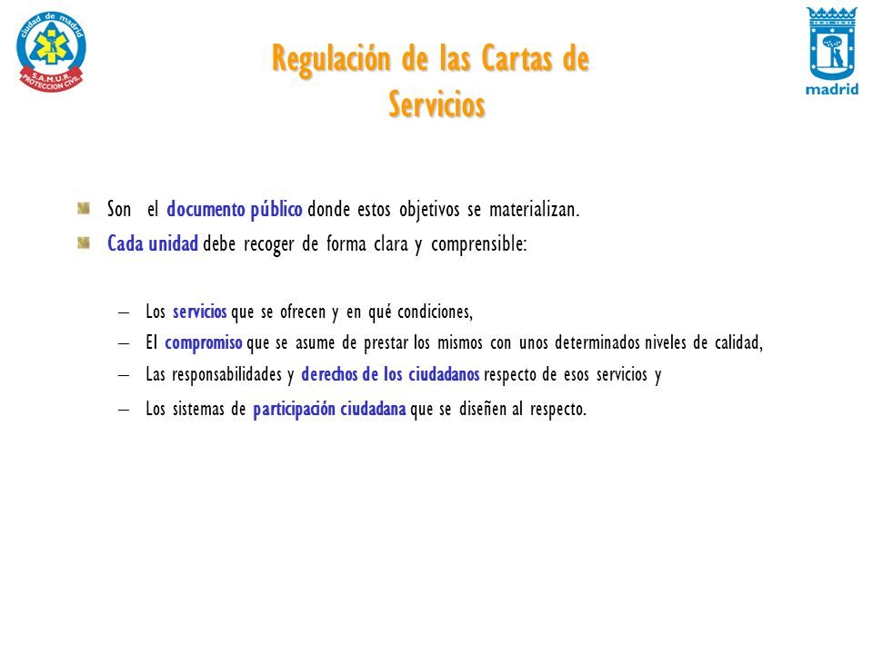 Regulación de las Cartas de