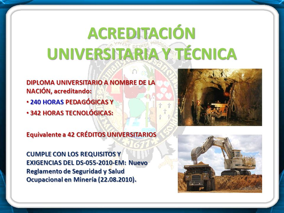 ACREDITACIÓN UNIVERSITARIA Y TÉCNICA