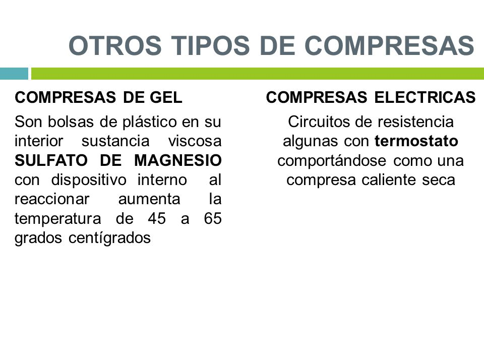 TIPOS DE COMPRESAS TERAPEUTICAS PDF DOWNLOAD