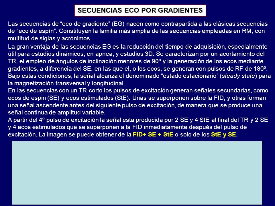 SECUENCIAS ECO POR GRADIENTES