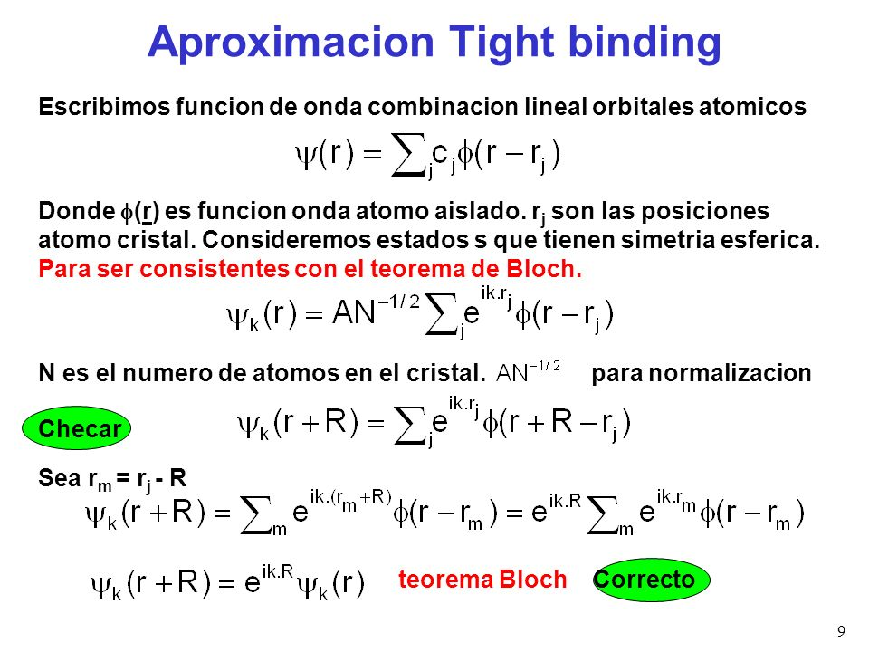 Aproximacion Tight binding