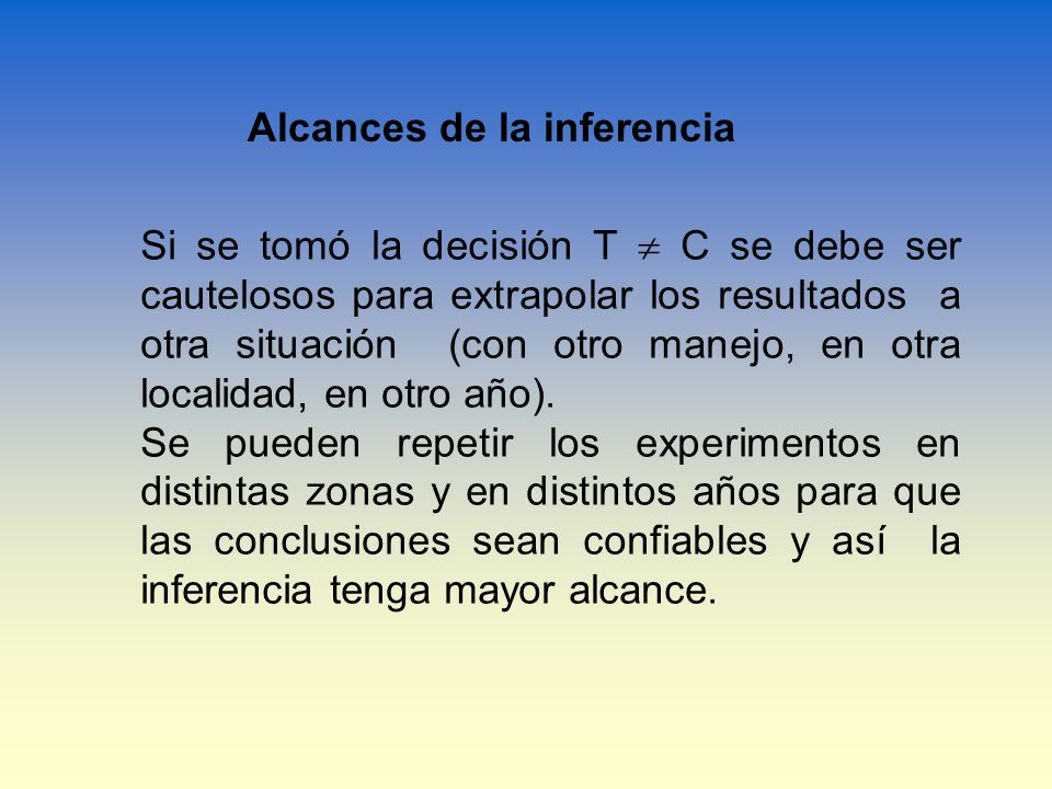 Alcances de la inferencia