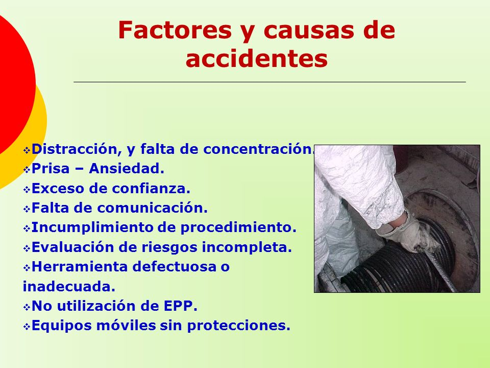 Factores y causas de accidentes