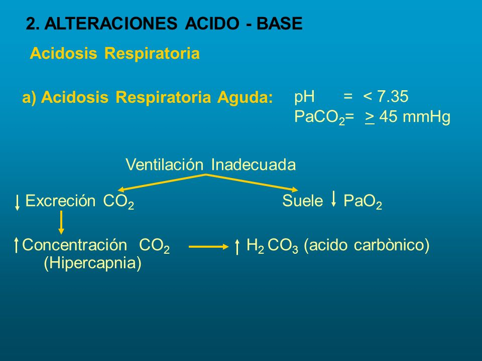 2. ALTERACIONES ACIDO - BASE