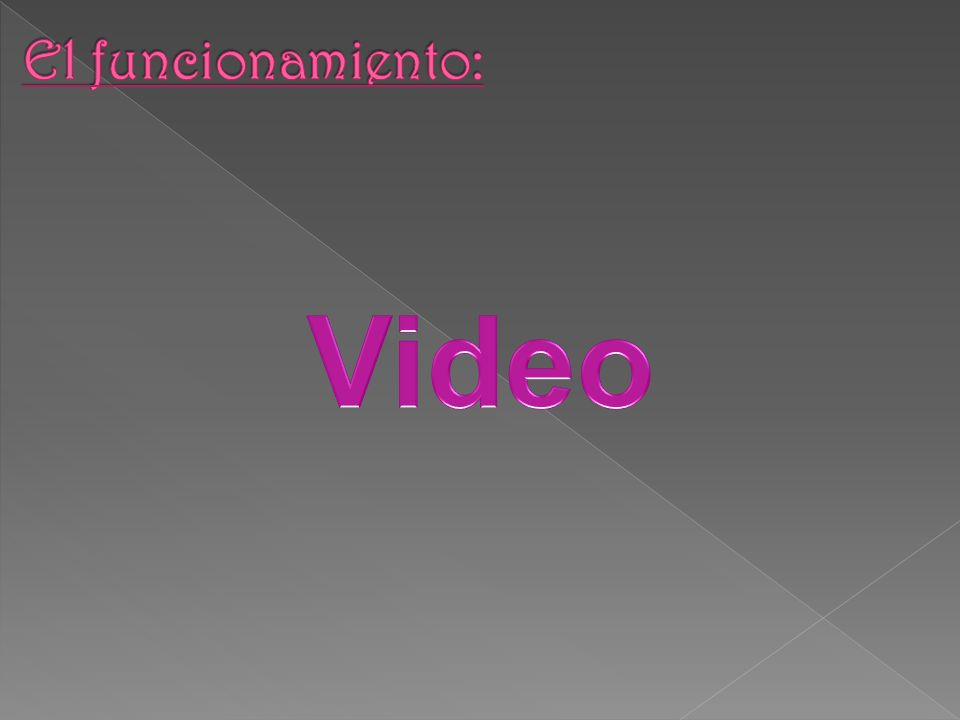 El funcionamiento: Video