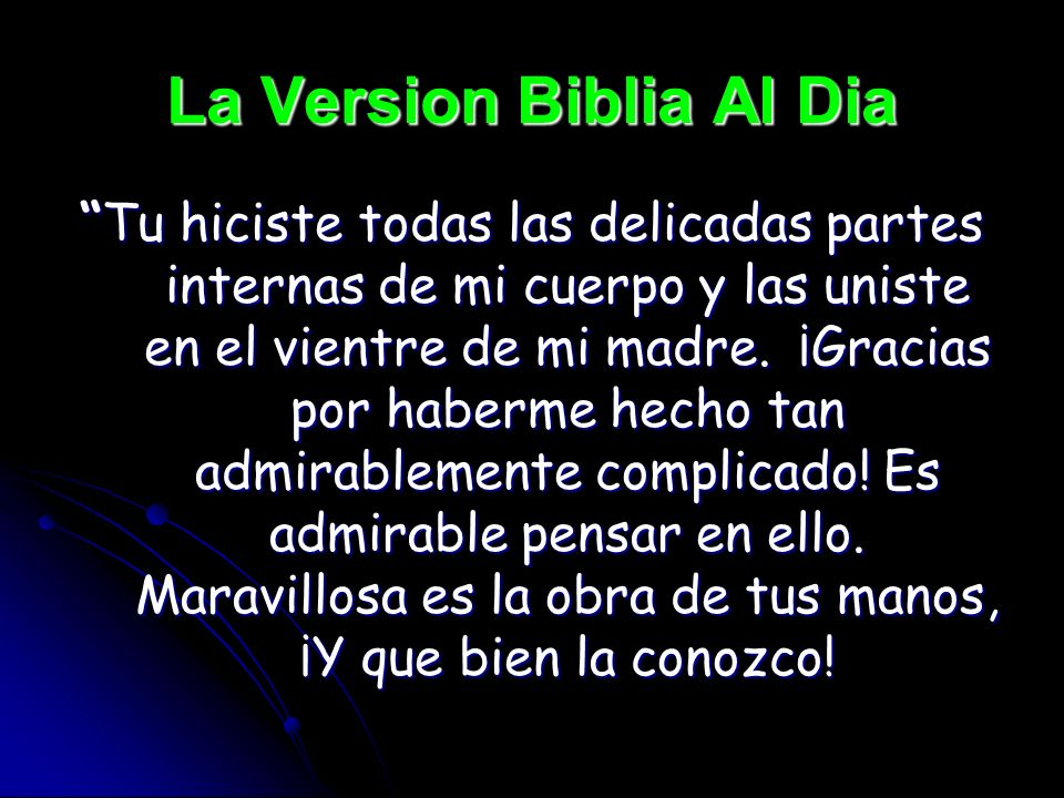 La Version Biblia Al Dia
