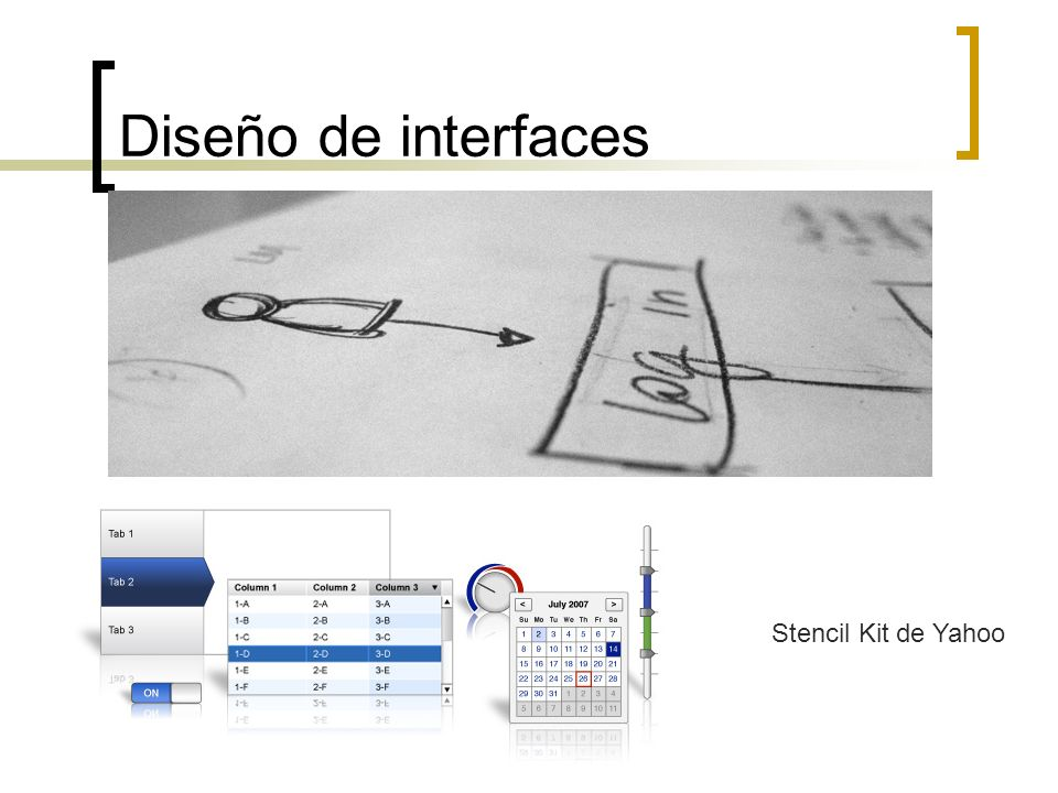 Diseño de interfaces Stencil Kit de Yahoo