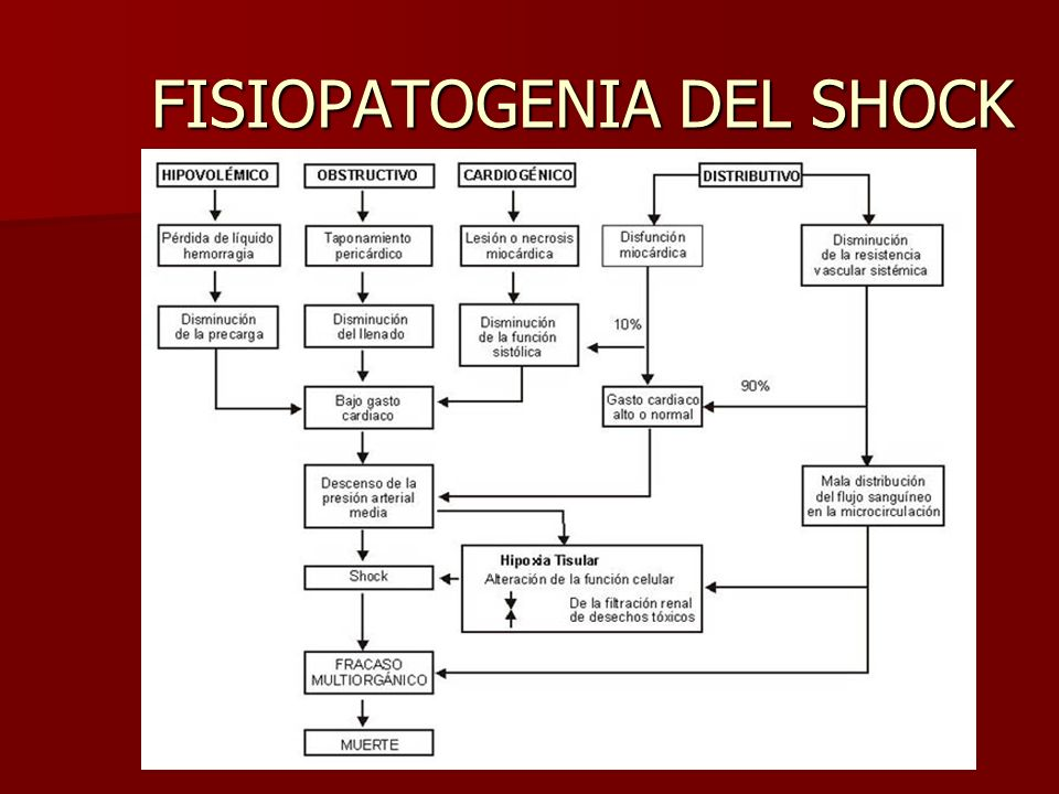 FISIOPATOGENIA DEL SHOCK