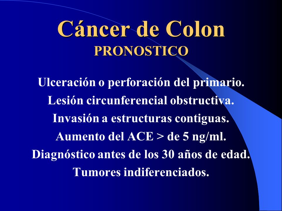 Cáncer de Colon PRONOSTICO