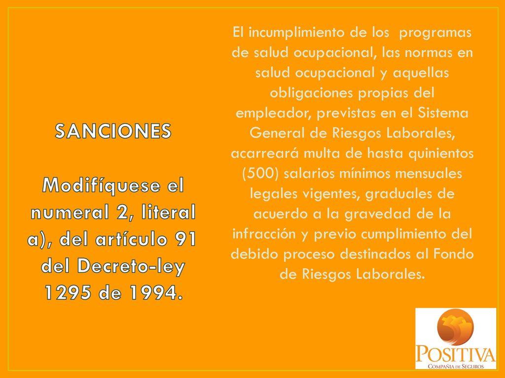 ACTUALIZACIÓN EN LEGISLACIÓN DE RIESGOS LABORALES - ppt descargar