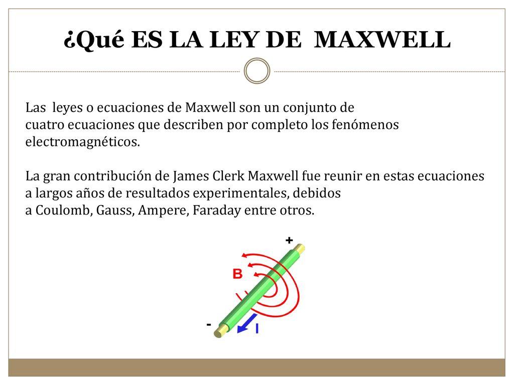 Resultado de imagen de La leyes de Maxwell