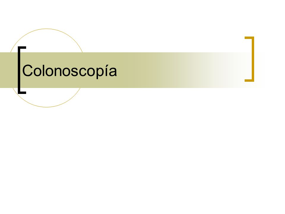 Colonoscopía