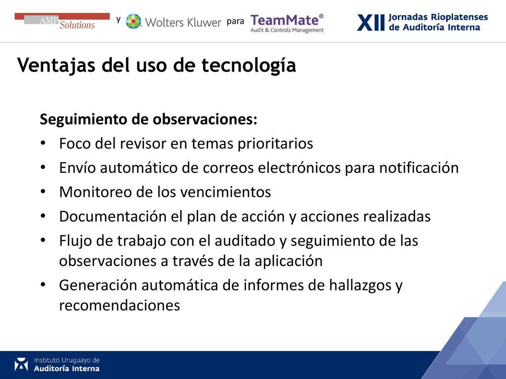 Transformando la función de auditoría a través de la tecnología ...