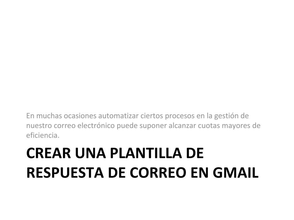 Google correo web Gmail - ppt descargar