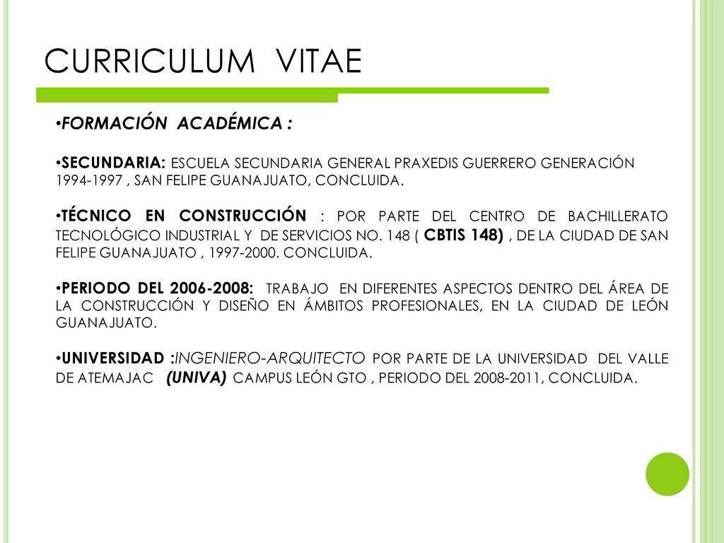 Curriculum Vitae Ppt Descargar