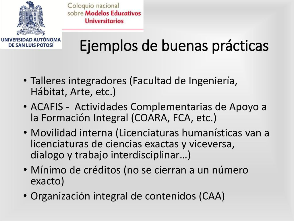 El Modelo Educativo de la UASLP en un currículum flexible - ppt ...