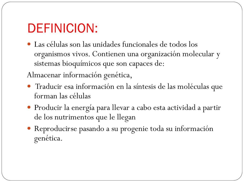 Celula Definicion Estructura Fisiologia Ppt Descargar