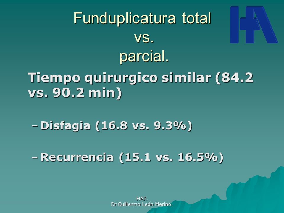 Funduplicatura total vs. parcial.