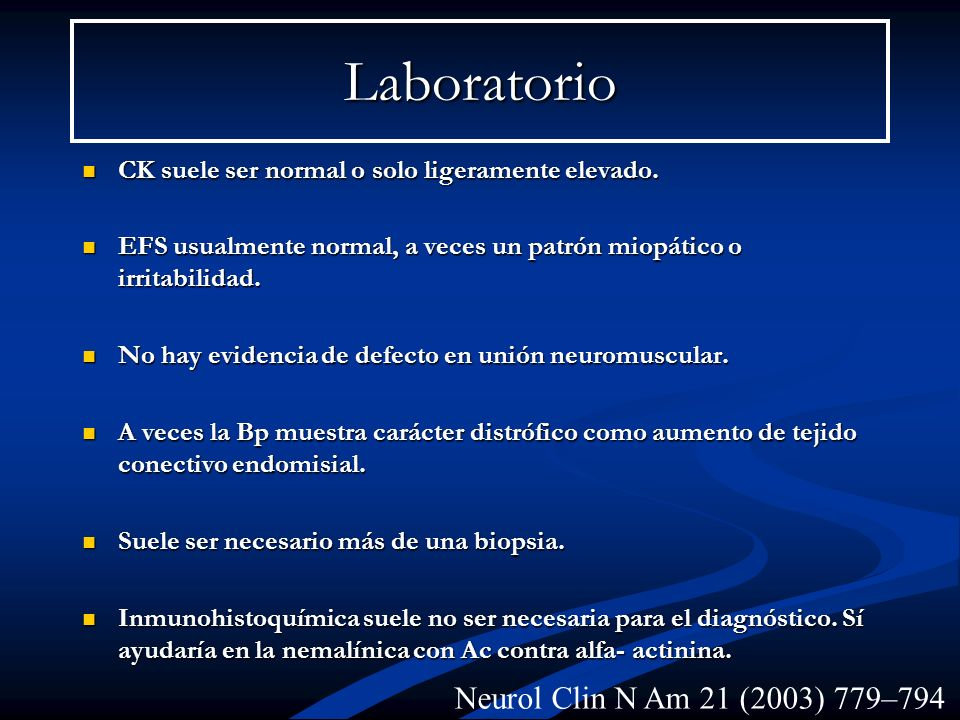 Laboratorio Neurol Clin N Am 21 (2003) 779–794