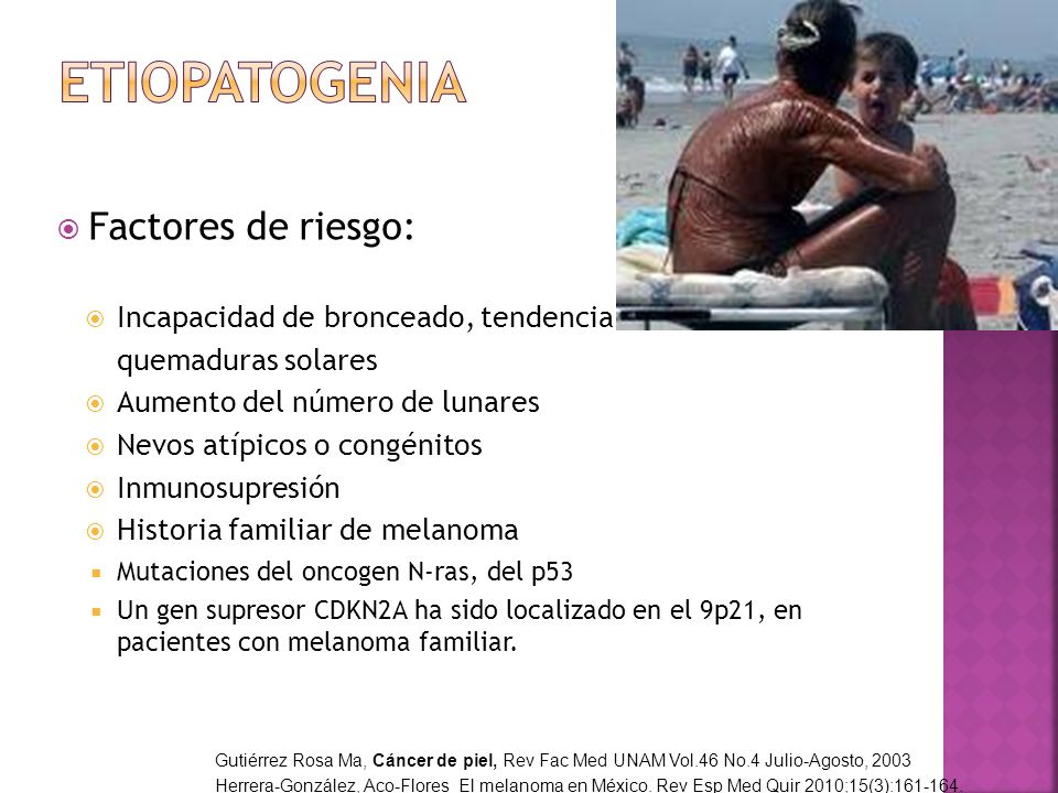 Etiopatogenia Factores de riesgo: