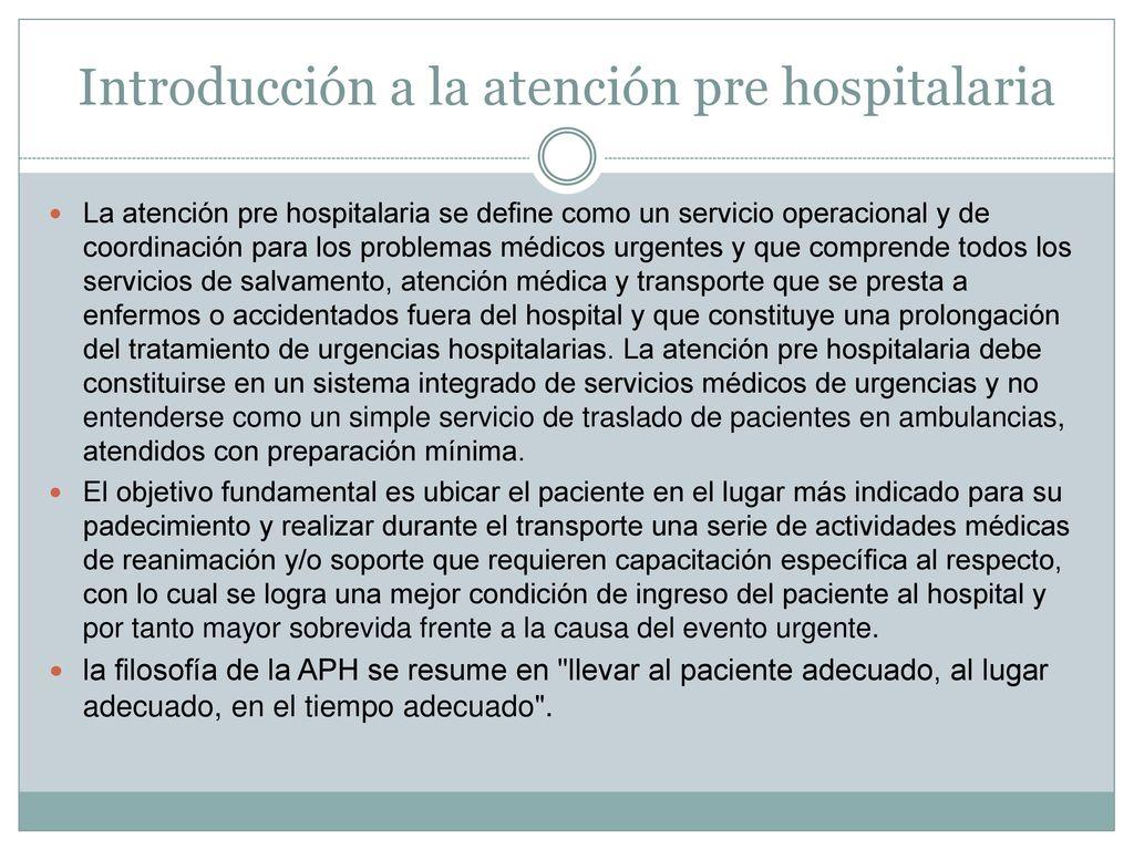 Técnico en Urgencias medicas - ppt descargar