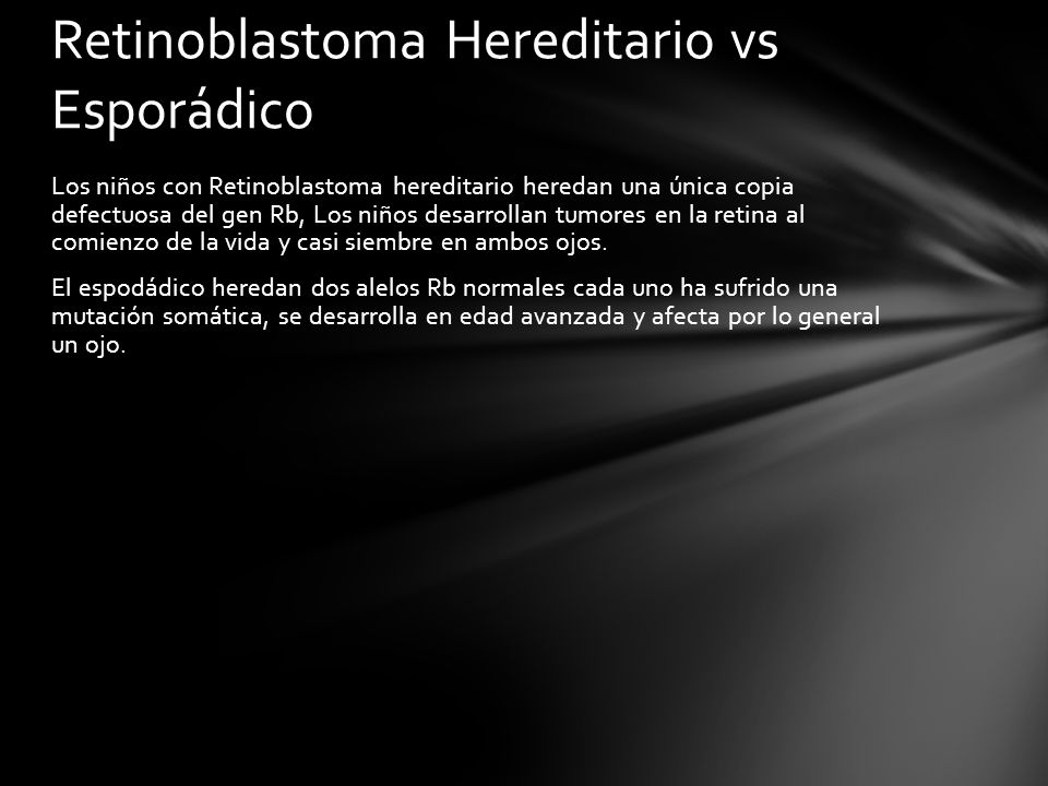 Retinoblastoma Hereditario vs Esporádico
