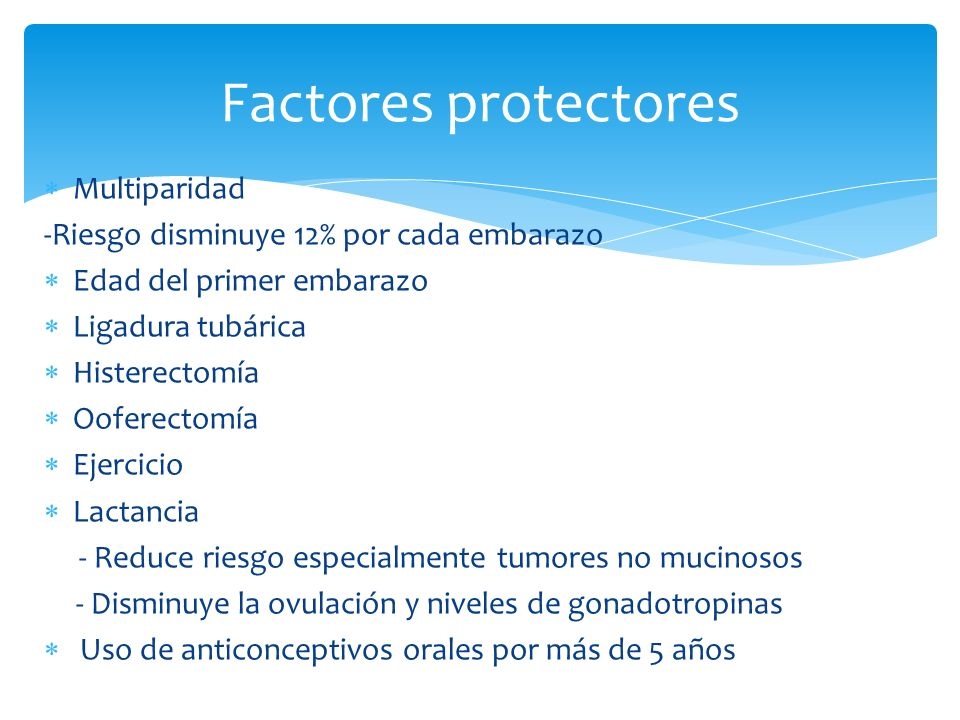 Factores protectores Multiparidad