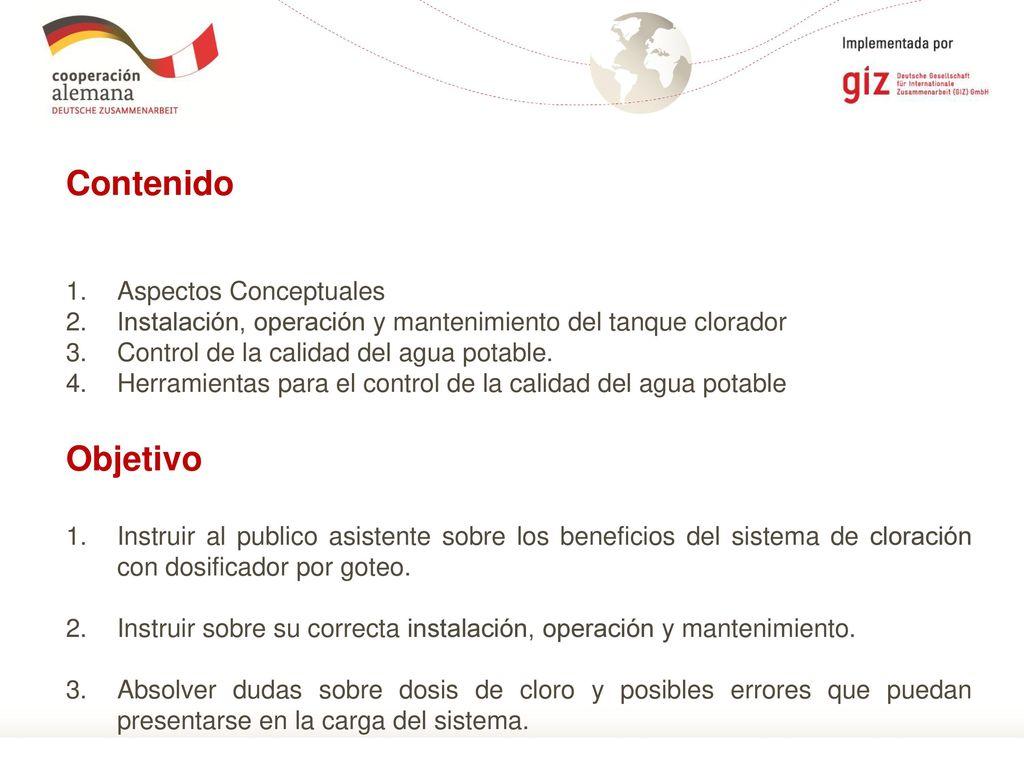 """Tema """"Construcción Operación y Mantenimiento del Equipo de Cloración ..."""