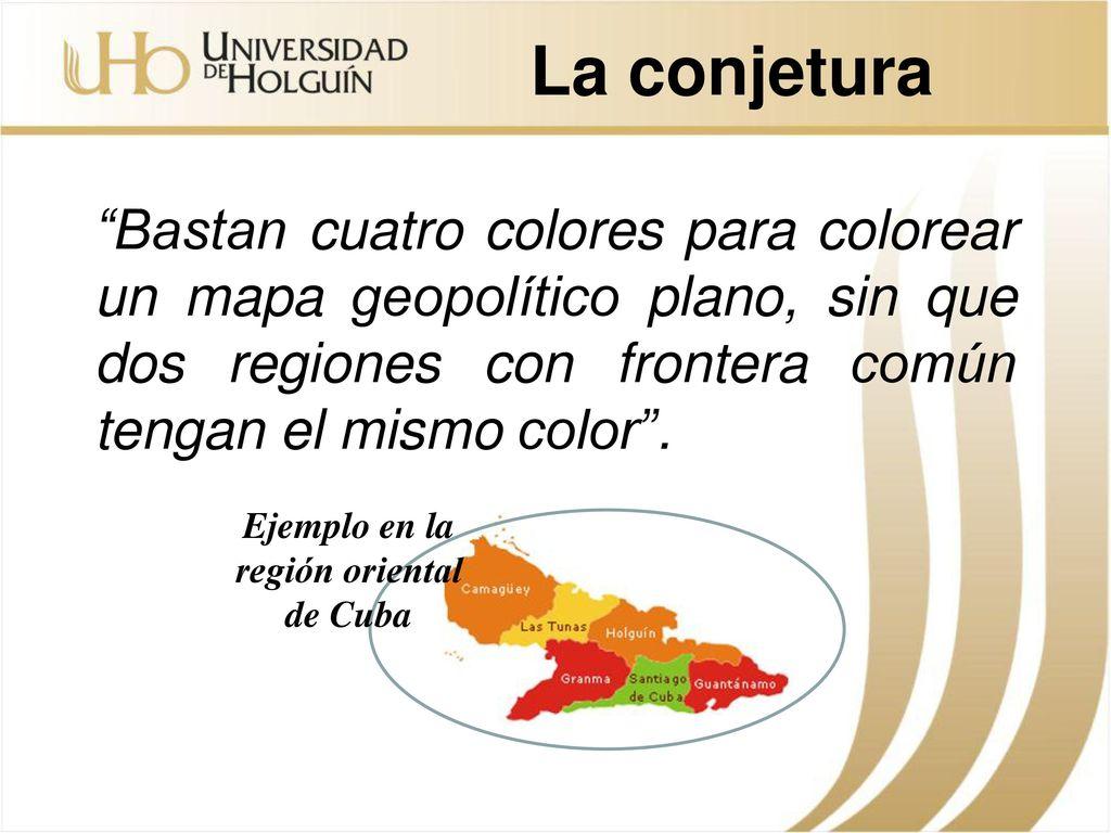 El problema de la coloración de mapas - ppt descargar