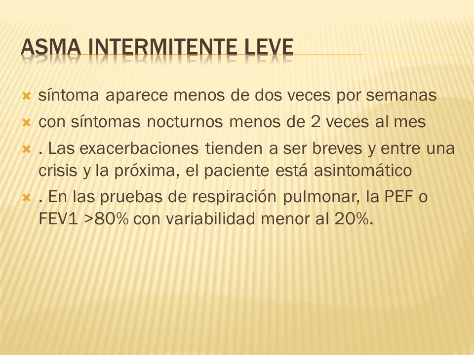 Asma intermitente leve