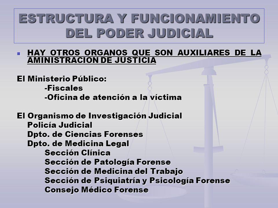 Estructura Y Funcionamiento Del Poder Judicial Ppt Descargar