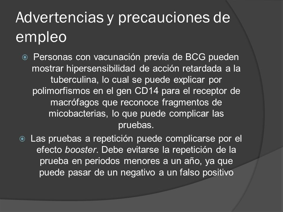 Advertencias y precauciones de empleo