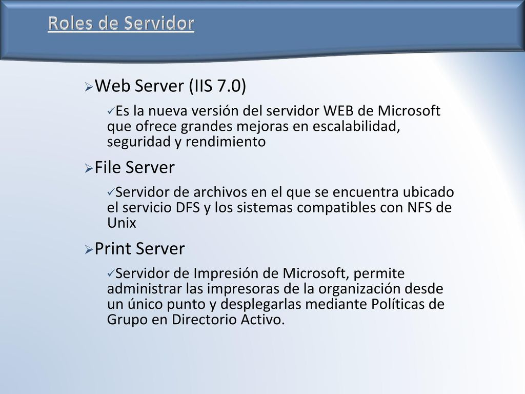 Microsoft Windows Server 2008 Administración - ppt descargar