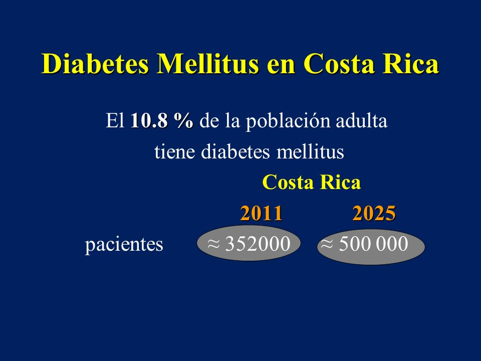 Diabetes Mellitus en Costa Rica