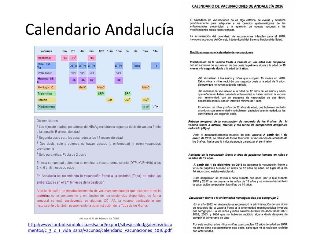 Calendario Vacunal Andalucia.Cambios En El Calendario Vacunal Natalia Areste Nemesio Moreno
