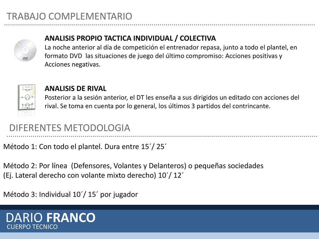 DARÍO FRANCO CUERPO TÉCNICO. - ppt descargar