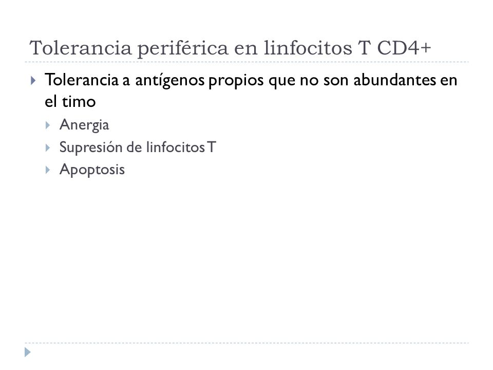 Tolerancia periférica en linfocitos T CD4+