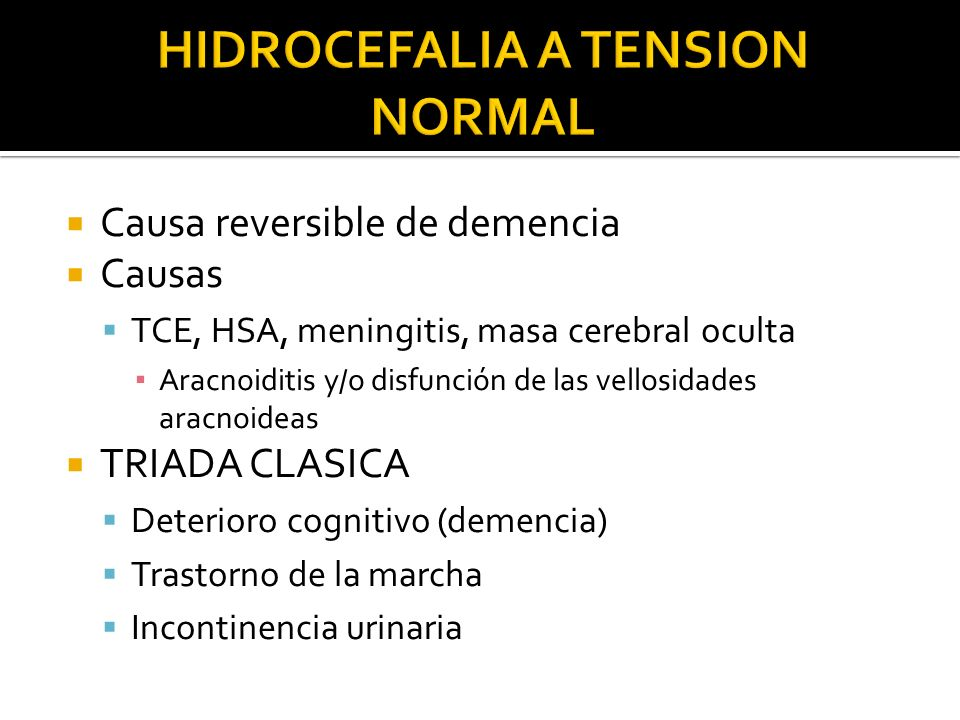 HIDROCEFALIA A TENSION NORMAL