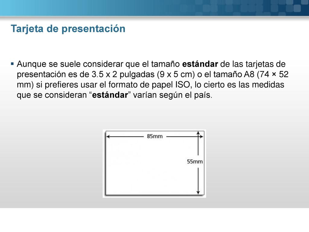 Tarjeta de presentación - ppt descargar