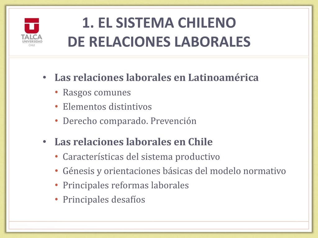 MASC LABORALES EN CHILE - ppt descargar