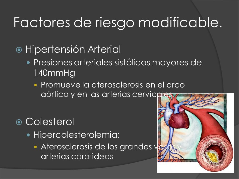 Factores de riesgo modificable.